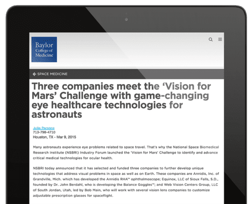 Press–BCU-Vision for Mars